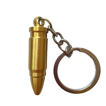 LUOEM Bullets Keyring Keychain Sólido Llavero de Cobre Puro ...