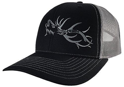 - Trucker Hat - Hunters Series Cap - Elk Edition Hats (Black/Charcoal)