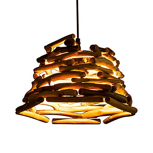 MAOFALZZNA American Country Retro Wood Pendant Lights Nostalgic bar bar Restaurant Cafe Clothing Roasted Fish Shop lightst