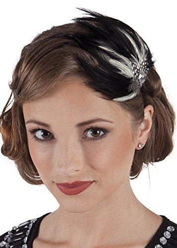 Boland Black Swan Style Black Feather Headpiece ()