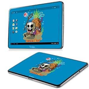 B 0071-0066-0027 diseño de Bob Esponja calavera Diabloskinz incluye protector de vinilo para Samsung Galaxy Tab 10,1