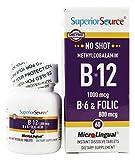 Superior Source – No Shot B12 Methylcobalamin 1000 mcg with B6 & Folic Acid 800 mcg. – 60 Tablets Review