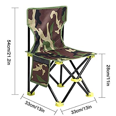 Mini Portable Folding Stool,Slacker Chair Outdoor Folding Chair for Camping,Fishing,Travel,Hiking,Garden,Beach, Quickly-Fold Chair Oxford Cloth with Carry Bag
