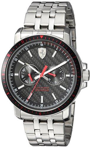 Ferrari Men's 'Turbo' Quartz Stainless Steel Casual Watch, Color:Silver-Toned (Model: 830453)