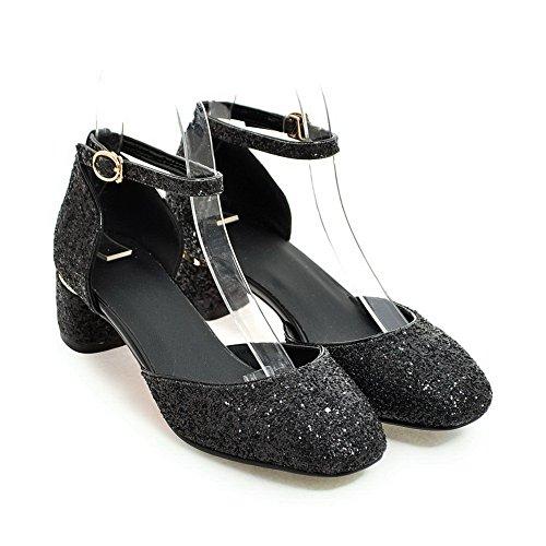 AdeeSu Womens Studded Dress Cold Lining Urethane Sandals SLC03990 Black g78JGPxec