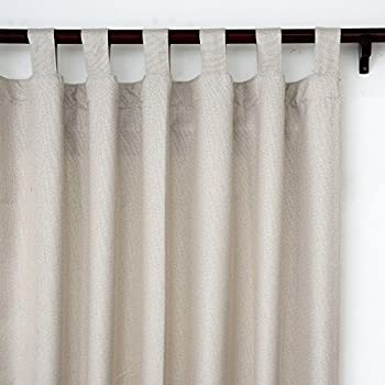 Amazon.com: Microsuede Ultra Suede 50-by-63-Inch Tab-Top Window ...