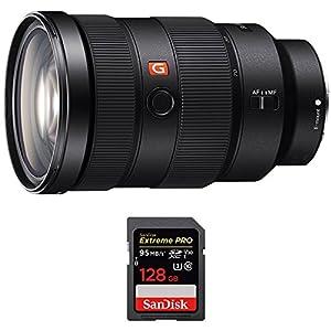 Sony (SEL2470GM) FE 24-70mm F2.8 GM Full Frame E-Mount Lens w/ Sandisk Extreme PRO SDXC 128GB UHS-1 Memory Card