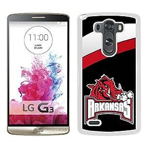 NCAA Arkansas Razorbacks 3 White Popular Custom Design LG G3 Phone Case