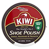 Kiwi Express Cream Shoe Polish Dark Tan OSC Kiwi 50ml