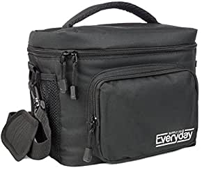 Insulated Lunch Bag (Black) — Freezer Safe, Nylon Durability, Zip Closure — Cooler Lunch Bag for Men, Women and Kids — Locks in Heat & Cold