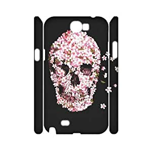 Skull DIY 3D Cover Case for Samsung Galaxy Note 2 N7100,personalized phone case ygtg557709