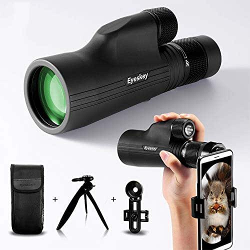 W.zz 10-30x50 Zoom Monocular with BaK4 Prism Fully Multi-Coated Waterproof High Power Mini Spotting Scope for Outdoor Activity