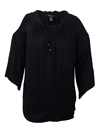 e29e65613dc Style   Co. Women s Plus Size Cold-Shoulder Peasant Top (0X