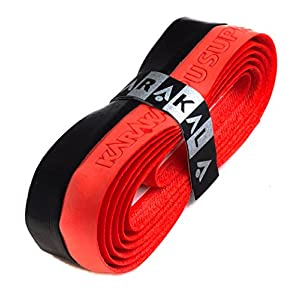 Karakal PU Supergrip replacement racquet grip tennis / badminton / squash Black / Red x 1