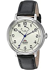Orient Mens Monarch Mechanical Hand Wind Stainless Steel and Leather Dress Watch, Color:Black (Model: FDD03003Y0)