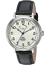 Men's 'Monarch' Mechanical Hand Wind Stainless Steel and Leather Dress Watch, Color:Black (Model: FDD03003Y0)
