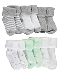 "Mary Jane & Buster Unisex Baby ""Heathered Prints"" 6-Pack Foldover Socks"