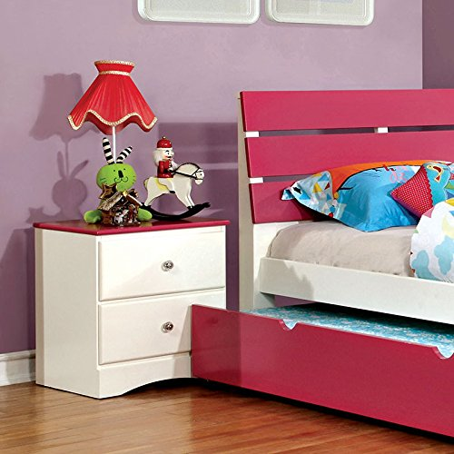 24/7 Shop at Home 247SHOPATHOME IDF-7626PK-N Childrens-nightstands, Pink