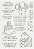 """Technique Tuesday Umpteenth Birthday Stamp Set, 4 by 6"""", Clear"""