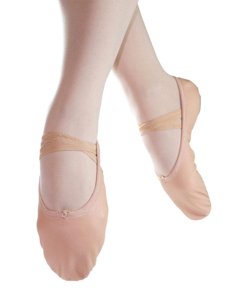 Danzcue Adult Split Sole Leather Pink Ballet Slipper 8.5 M US