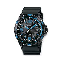 Casio MTD-1065B-1A1VEF Gents Watch Quartz Analogue Black Dial Black Resin Strap