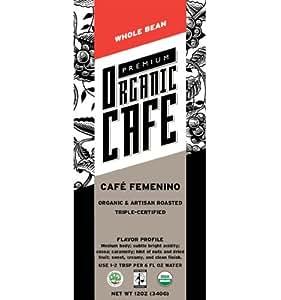 Premium Organic Cafe Cafe Femenino 12 Oz - Medium Roast