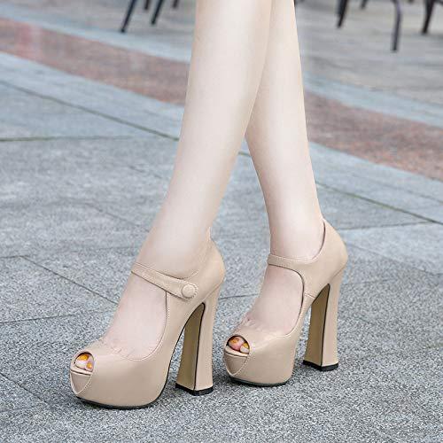 sandales femmes chaussures plateforme carré pour D talons à soirée dames élégantes Zpffe haute wAqUS00