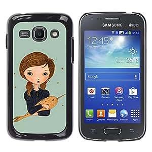 Be Good Phone Accessory // Dura Cáscara cubierta Protectora Caso Carcasa Funda de Protección para Samsung Galaxy Ace 3 GT-S7270 GT-S7275 GT-S7272 // Narwhal Dream Painting Art Girl
