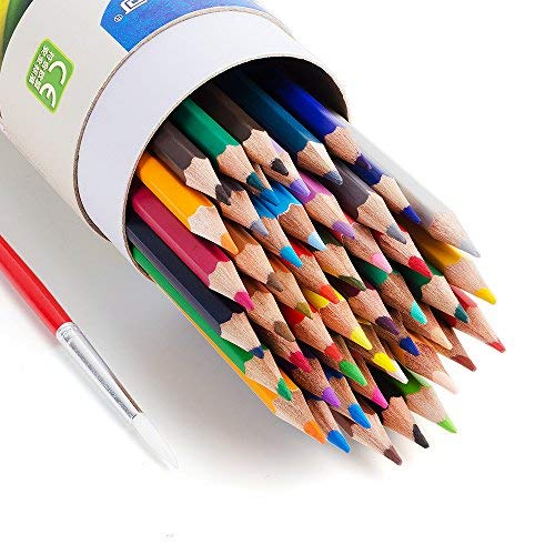 Marco 48 Set Colored Pencils Water Soluble Coloring Pencils with Blending Pen for Artist Adults Beginners Students Drawing, Watercolor Painting, Color Books