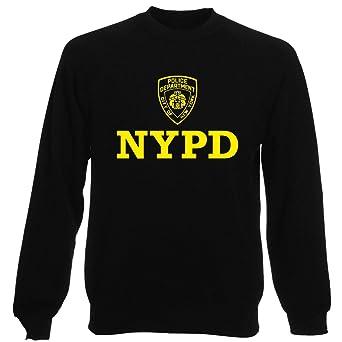 Sudadera por Hombre Negro DEC0233 NYPD Police Department City of New York: Amazon.es: Ropa y accesorios