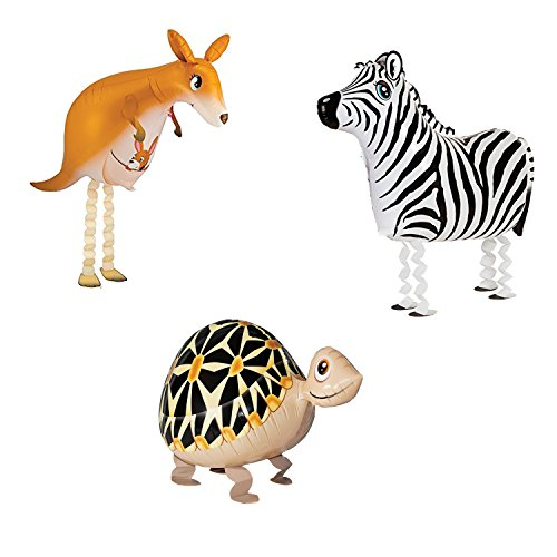 Animal Balloons Mylar Foil Balloon Birthday Meeting BBQ Party Decoration kangaroo tortoise zebra (Animal Balloons Helium)