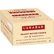 Larabar Gluten Free Bar, Peanut Butter Cookie, 1.7 oz Bars (16 Count), Whole Food, Dairy Free Snacks