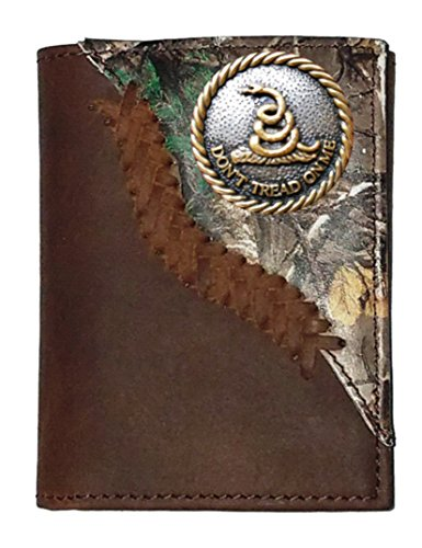 Custom Don't Tread On Me Realtree AP Camo trifold wallet