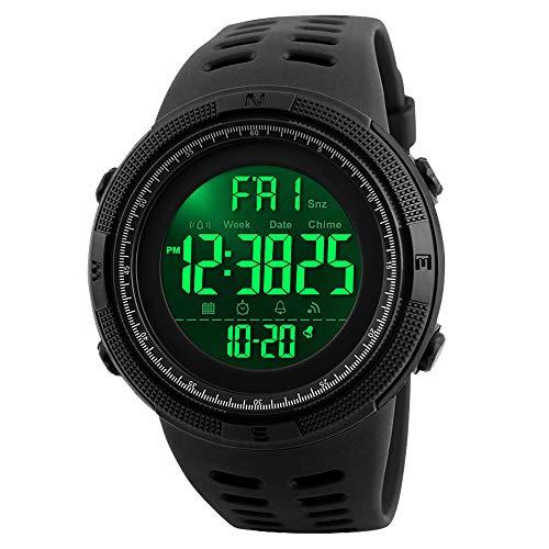 - Men's Digital Sports Watch Waterproof Military Stopwatch Countdown Auto Date Alarm