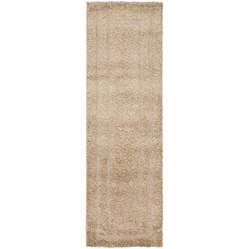 "Safavieh Shadow Box Shag Collection SG454-1313 Beige Runner (2'3"" x 9')"