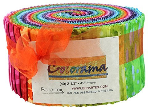 Triple Pinwheel (Bali Batik Colorama Pinwheel 40 2.5-inch Strips Jelly Roll Benartex)