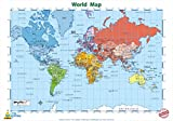 "Little Wigwam World Map Chart – ""No Tear Guarantee"" Educational Poster (60 x 42cm / 24 x 17 inches) Picture"