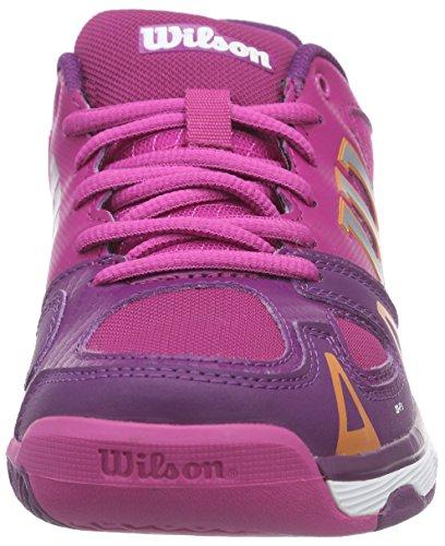 Wilson Rush Pro Jr, Zapatillas de Tenis Unisex Niños Morado / Rosa