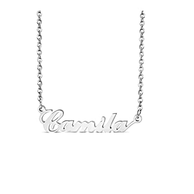 Stainless steel camila name personalized charm link chain necklace stainless steel camila name personalized charm link chain necklace length 176quot aloadofball Image collections