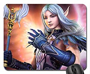 Elf warrior Mouse Pad, Mousepad (10.2 x 8.3 x 0.12 inches)