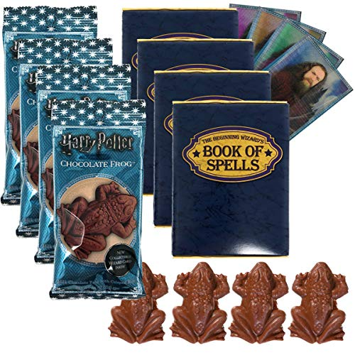 Click for larger image of Jelly Belly Harry Potter Chocolate Frog Bundle, 4x Chocolate Frog Candies, 4x Wizard Trading Cards, 4x Wizard Book of Spells Cardboard Gift Boxes