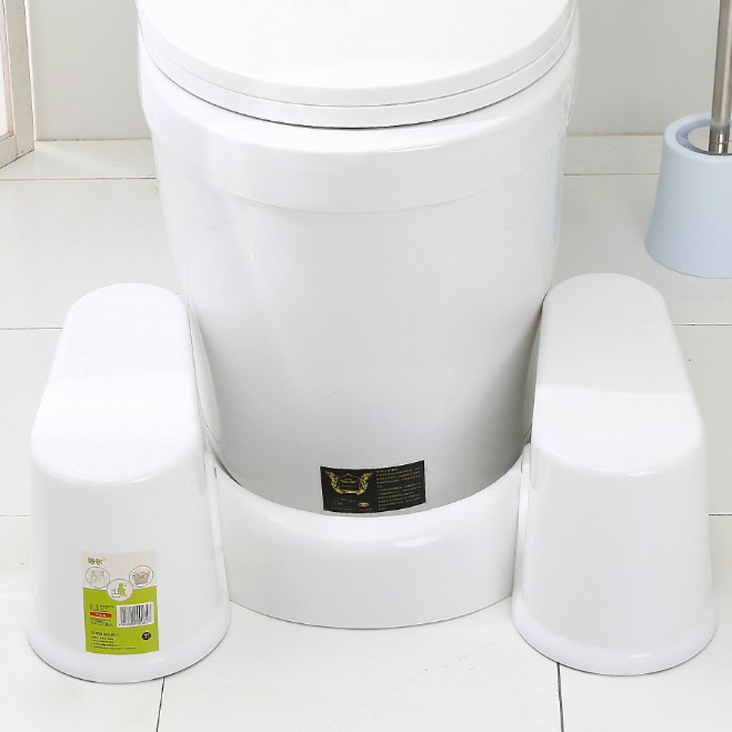 BYNNIX Bathroom Toilet Aid Squatty Step Foot Stool for Potty Help Prevent Constipation (Large)