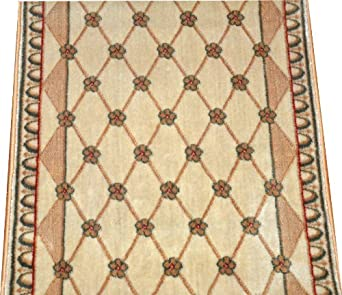 Amazon Com Dean Chelsea Trellis Ivory Carpet Rug Hallway