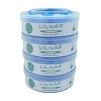 LILNAP - Recambios para el contenedor de pañales Sangenic Tommee Tippee & Sangenic Tec- recarga multicapa con tratamiento EVOH antibacteriano (4 ...