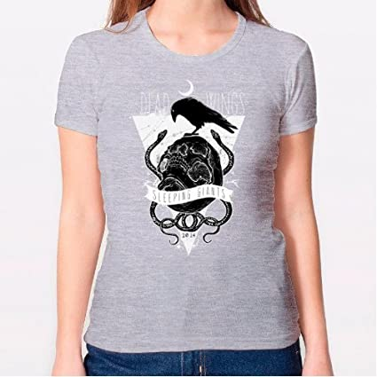 Positivos Camisetas Mujer/Chica - diseño Original Camiseta Chica - Sleeping Wings - L
