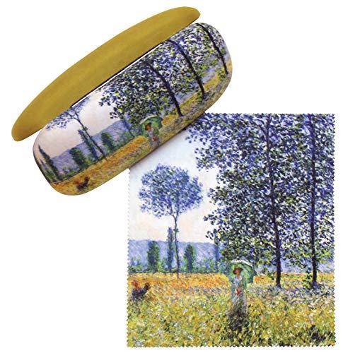 IZMO Classic Art Fabric Glasses Case & Cloth (Sunlight Effect under the Poplars) ()