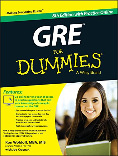 Pdf Test Preparation GRE For Dummies: with Online Practice Tests
