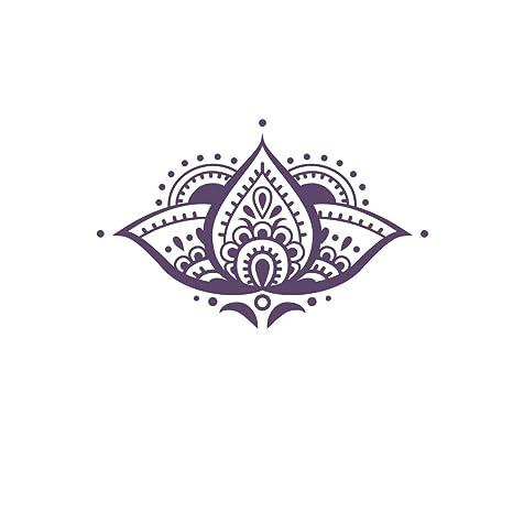 Amazon.com: calcomanía decorativo para pared de flor de loto ...