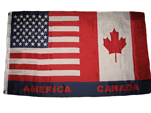 - USA Canada Canadian American 3x5 Super Polyester Flag