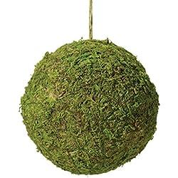 Lillian Rose Rustic Green Moss Hanging Ball Wedding Decor